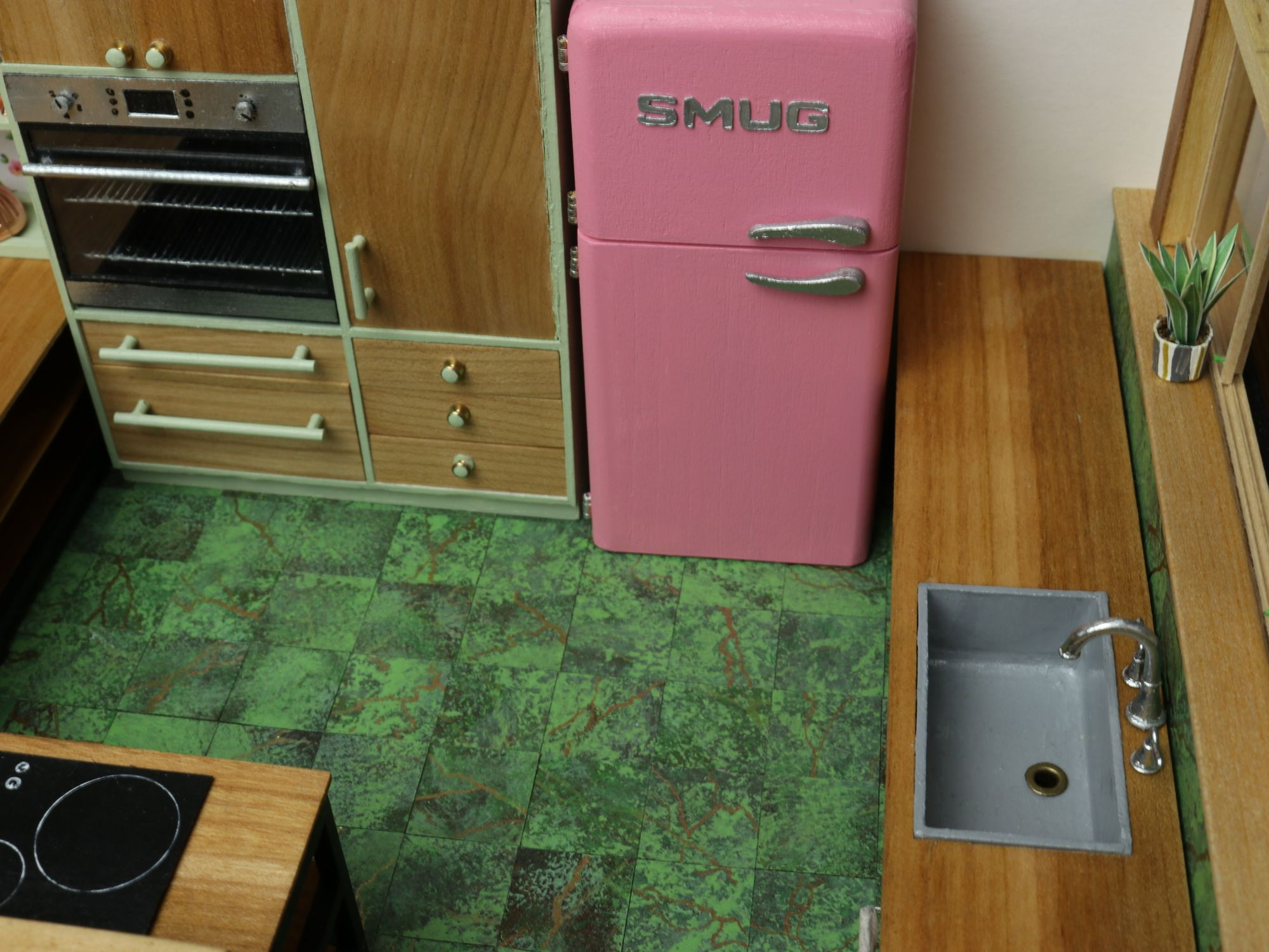 The fridge is a 1/16 replica of an actual fridge, well almost.